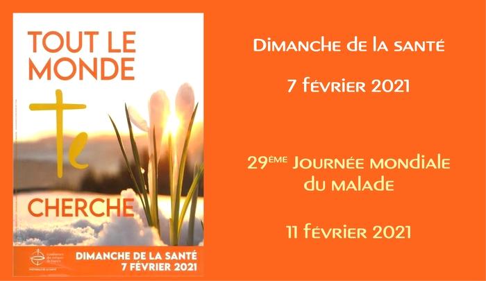 Dimanche de la Santé – 7 février 2021 2021-01-28_Img-Une_Dimanche-Sante_bis